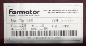 Двигатель VVVF Fermator