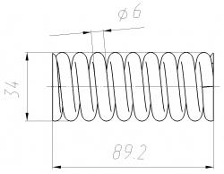Пружина тормоза 0471.62.02.300 (МЛЗ)