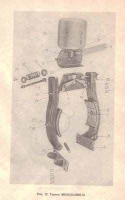 Рычаг (лапы) тормоза 406.02.02.010