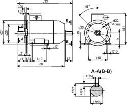 АИР-63В4 фланец