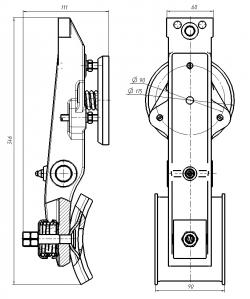 Рычаг (лапы) тормоза Н0610Б.02.22.120 (МЛЗ)